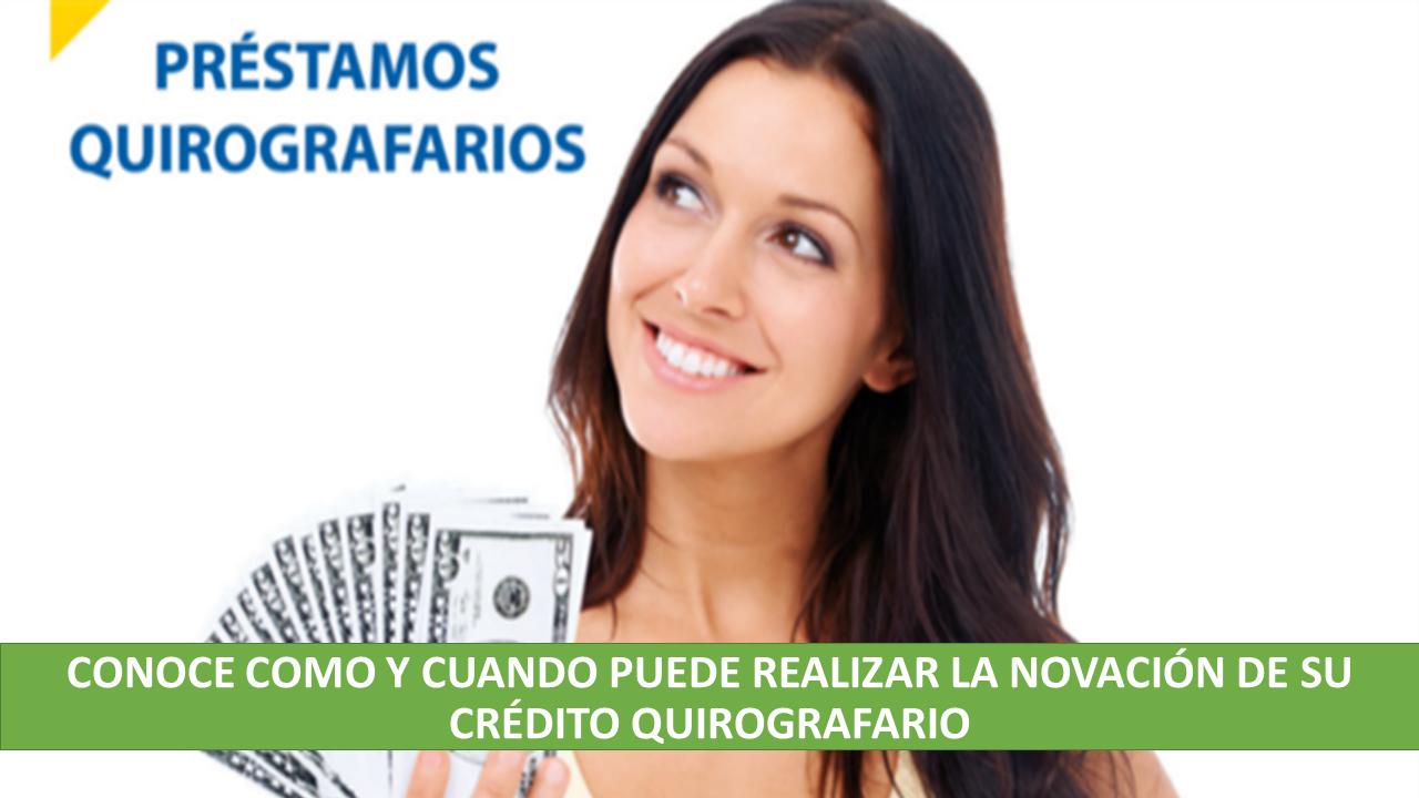 ¿Cuándo puede realizar la Novación de su Créditos Quirografarios?