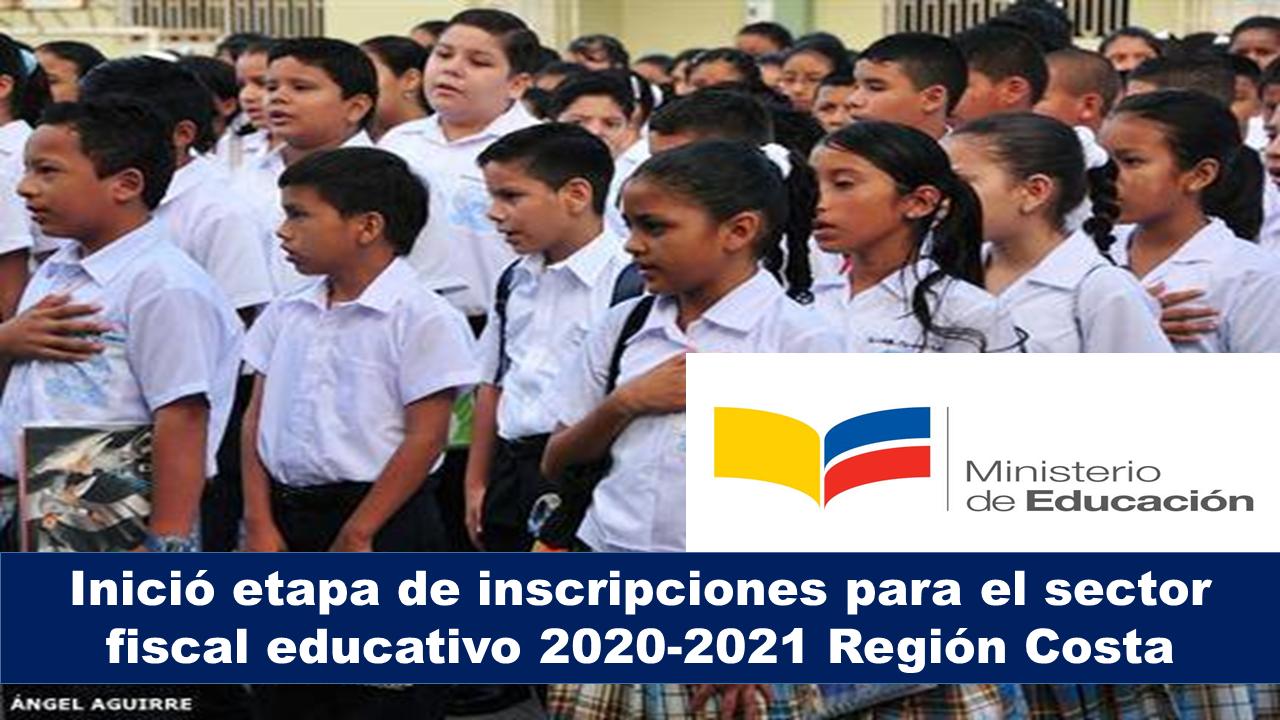 Inició etapa de inscripciones para el sector fiscal educativo 2020-2021