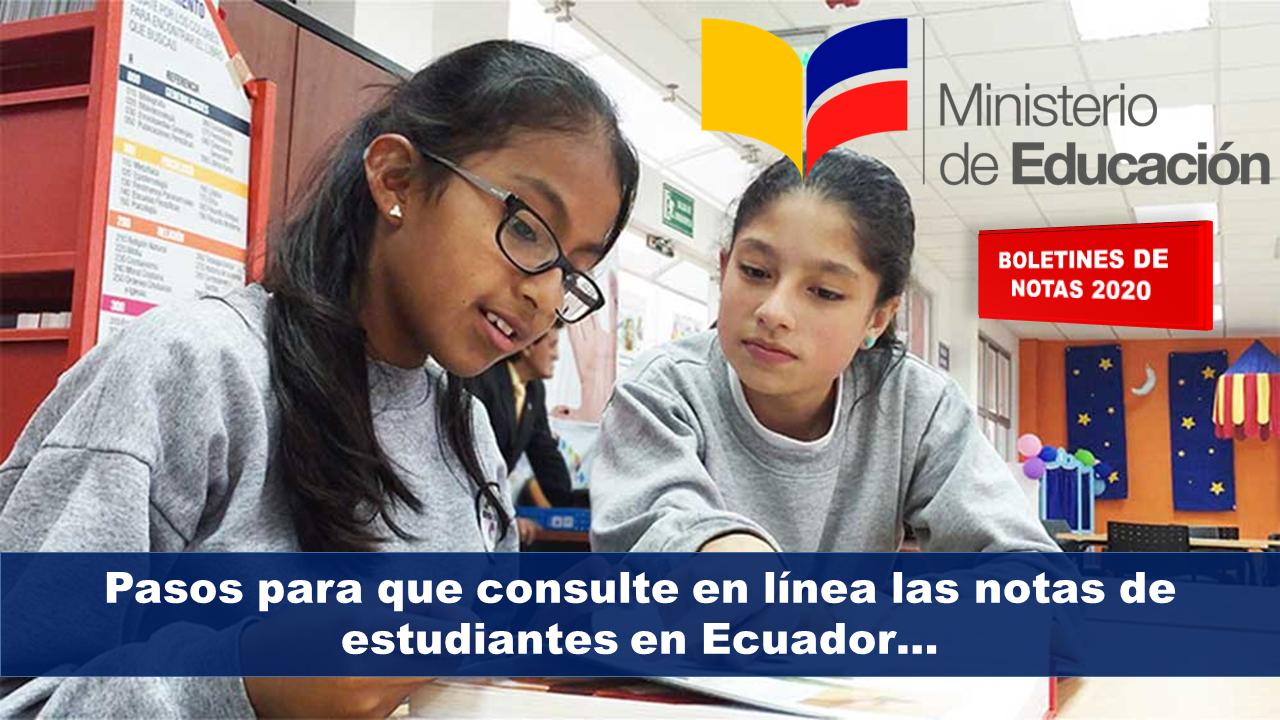 Consulte en línea las notas de estudiantes en Ecuador