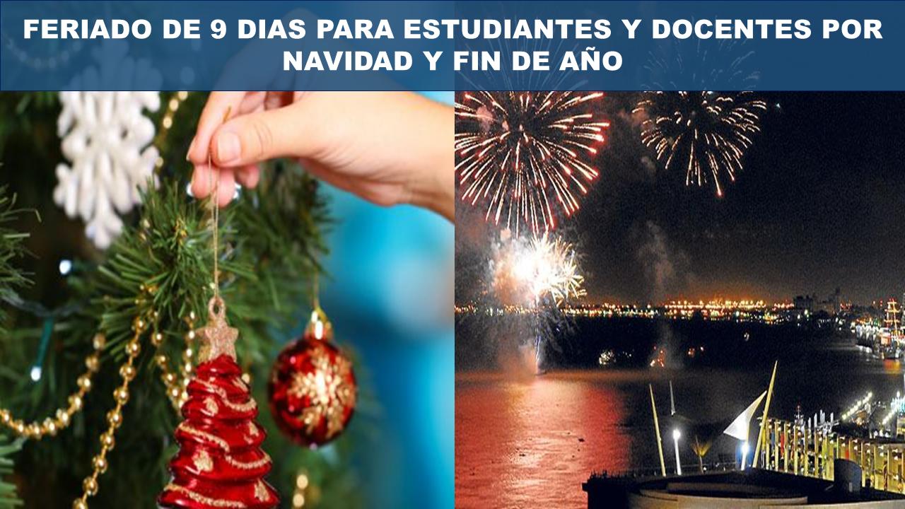 Feriado por navidad y fin de año para estudiantes 2019-2020