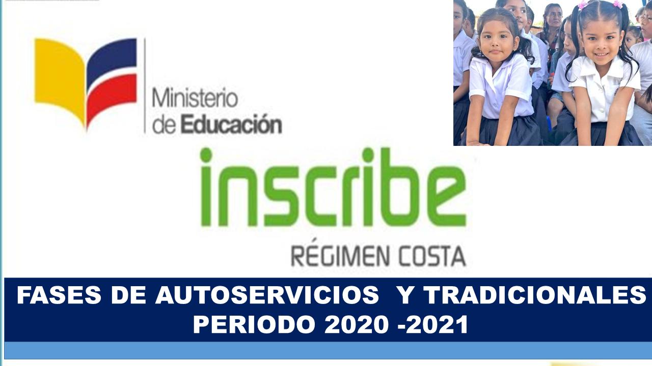 Inscripciones para estudiantes del régimen Costa 2020-2021
