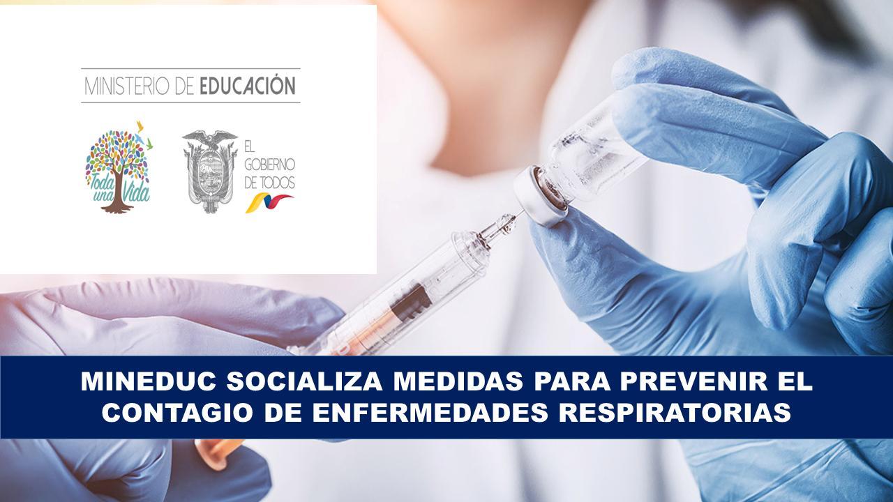 MinEduc socializa medidas para prevenir el contagio de enfermedades respiratorias