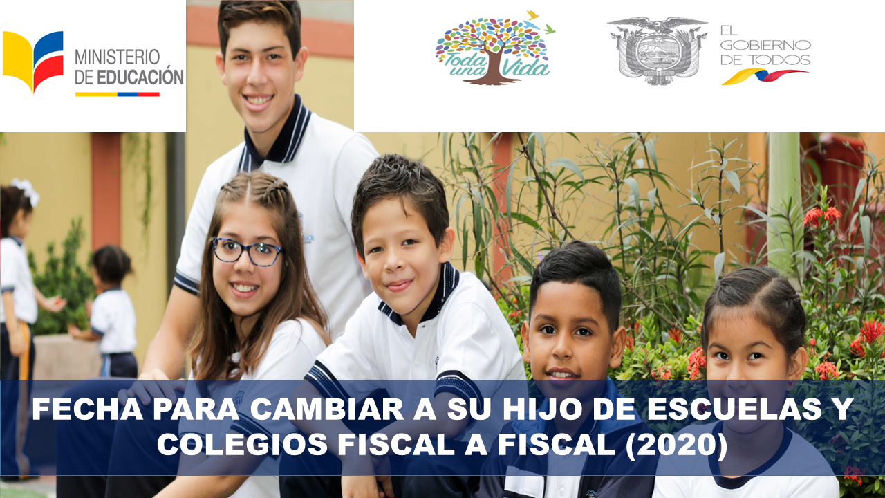 Fecha para cambiar a su hijo de Fiscal a Fiscal (2020)