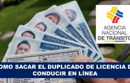 Como Sacar Duplicado de Licencia de conducir en Línea