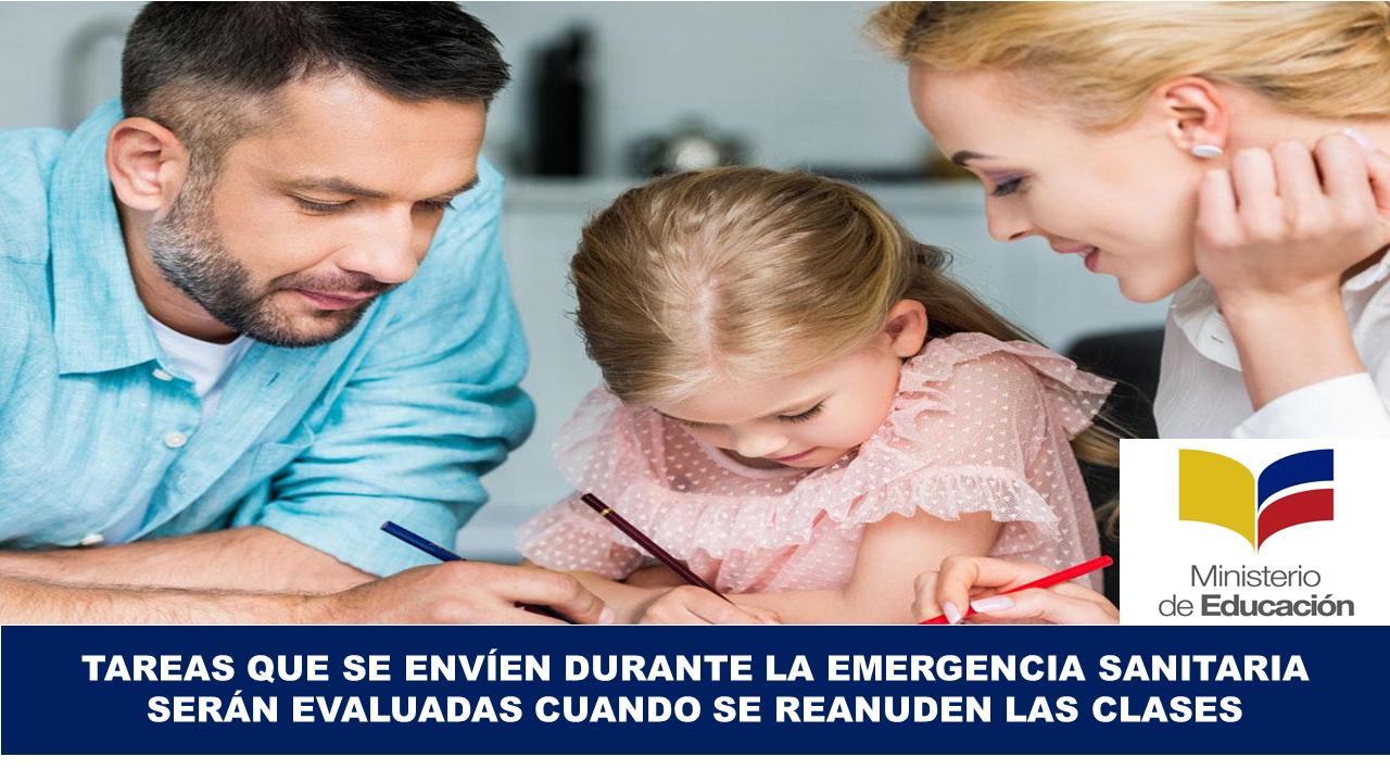 Tareas que se Envíen Durante la Emergencia Sanitaria Serán Evaluadas Cuando se Reanuden las Clases