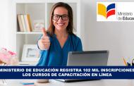 El Mineduc registra 102 mil inscripciones en los cursos me Capacitación en línea
