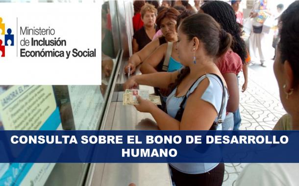 Consulta sobre el Bono de Desarrollo Humano
