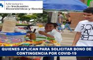 Quienes Aplican para Solicitar Bono de Contingencia por COVID-19