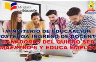 Postergan Ingreso de los ganadores del concurso Quiero Ser Maestro 6 y Educa Empleo