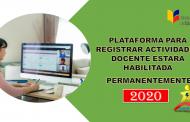 Plataforma para Registrar Actividades Docente estará Habilitada Permanentemente