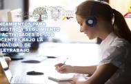 Lineamientos para Registro y Seguimiento de Actividades de los Docentes bajo la Modalidad de Teletrabajo