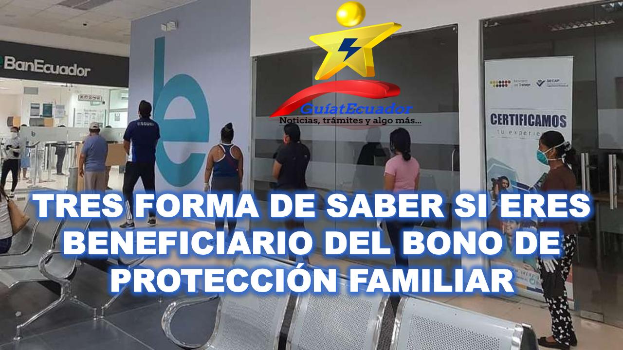 Formas de Saber si Eres Beneficiario del Bono de Protección Familiar
