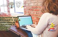 Inscríbete en la Modalidad de Educación a Distancia - Virtual