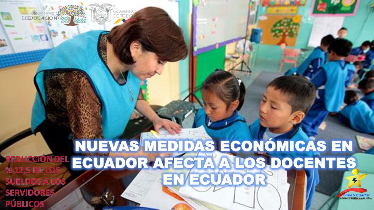 Sueldos de Docentes en Ecuador se Reducirá