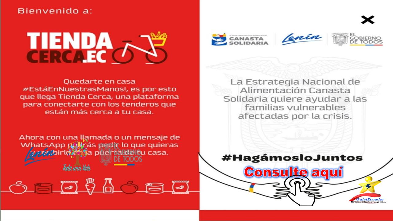 Registre la Entrega su Canasta Solidaria en la Tienda más Cercana