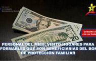 Personal del MIES, visita hogares para informarles que son beneficiarias del Bono de Protección Familiar