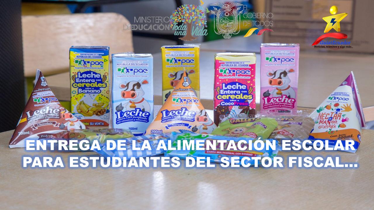 Entrega de la Alimentación Escolar para Estudiantes del Sector Fiscal