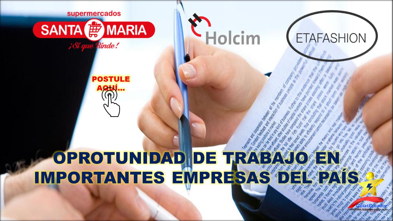 Fuentes de Trabajo en el País Varias empresas