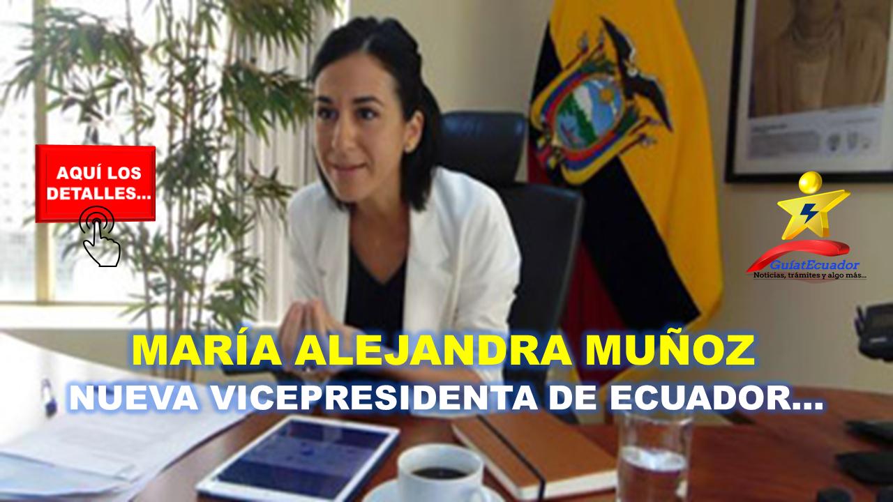 Ecuador Eligió a la una Nueva Vicepresidenta