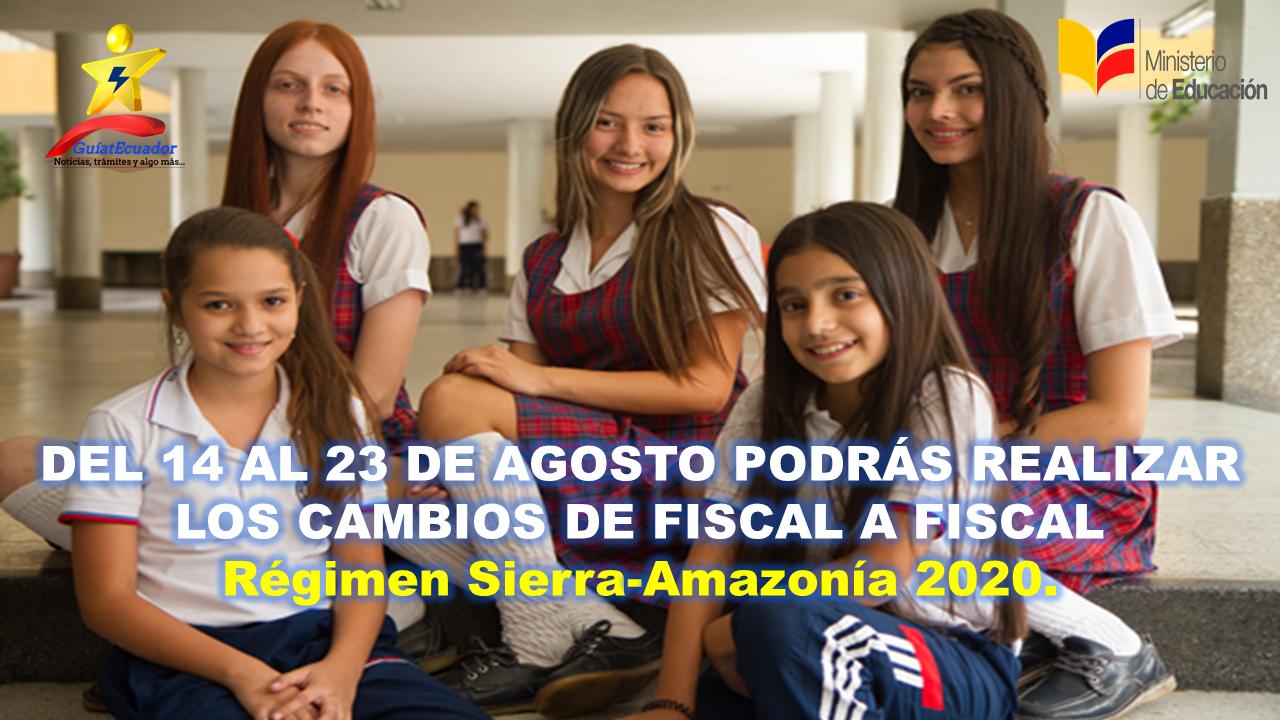 Fase de Traslados de Fiscal a Fiscal Régimen Sierra–Amazonia