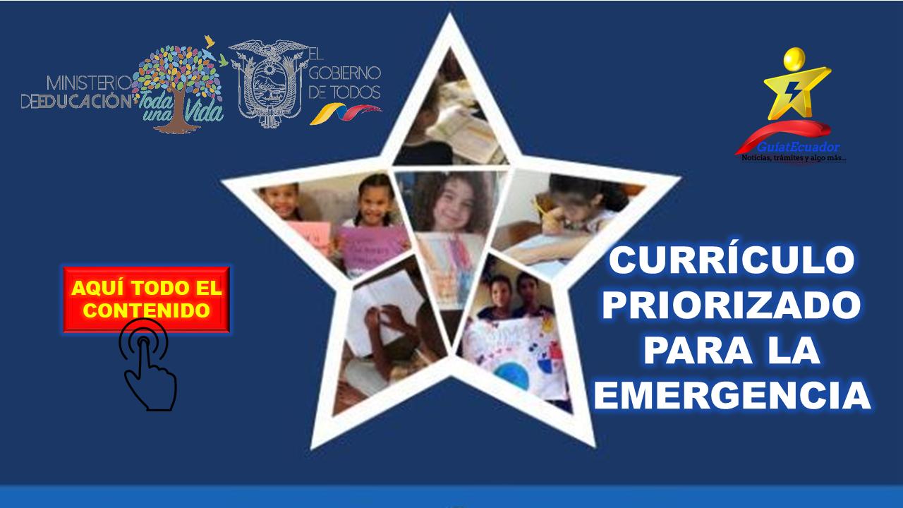 Currículo Priorizado para la Emergencia