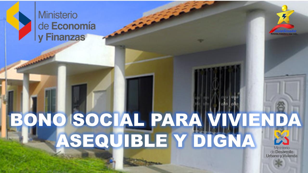 Bono Social para vivienda asequible y digna