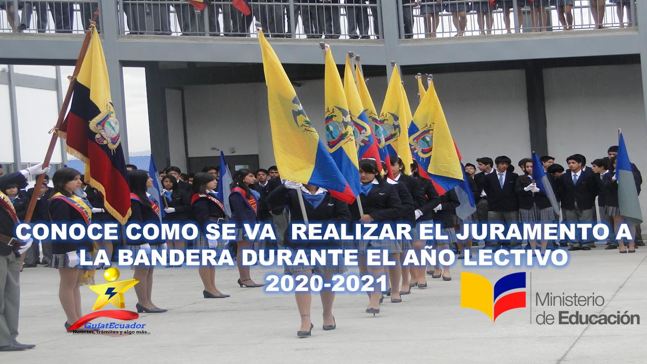 Juramento a la Bandera durante año lectivo 2020-2021