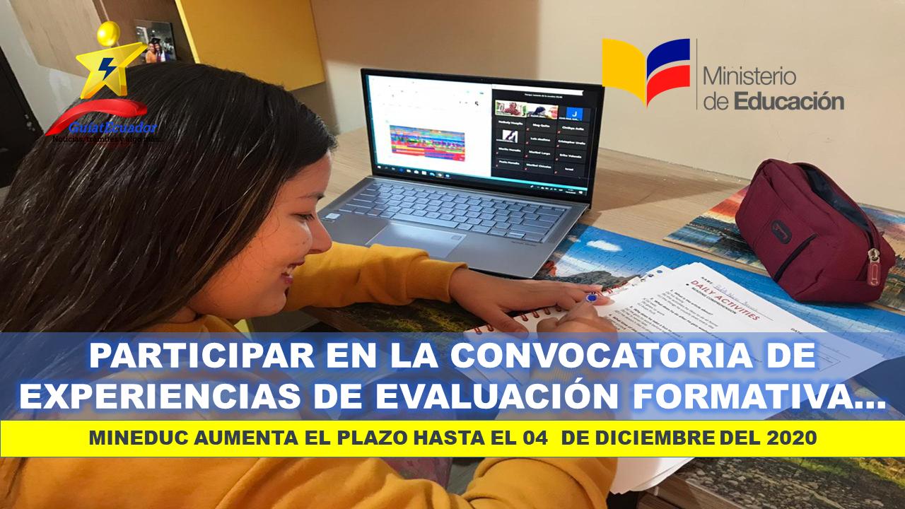Participar en la Convocatoria Experiencias de Evaluación Formativa