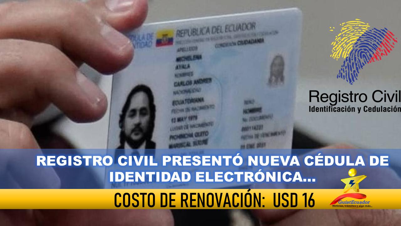 Registro Civil presentó nueva cédula de identidad electrónica