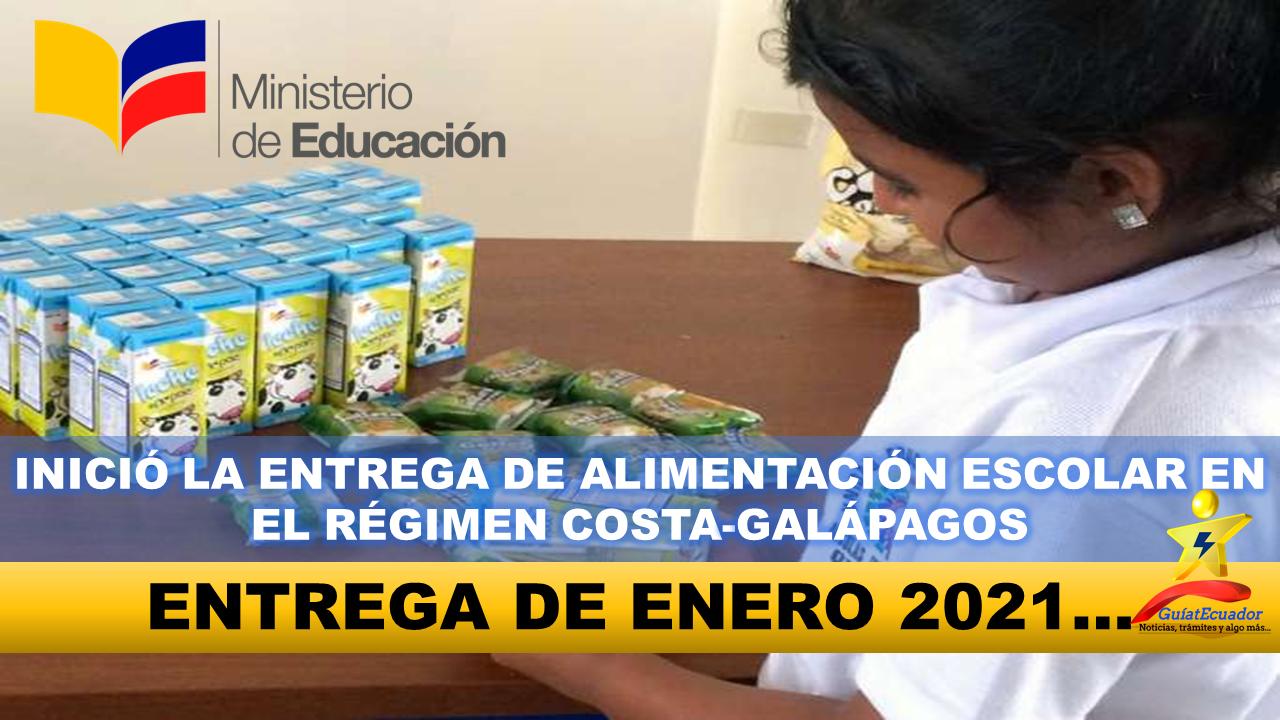Inició la Entrega de Alimentación Escolar en el Régimen Costa-Galápagos