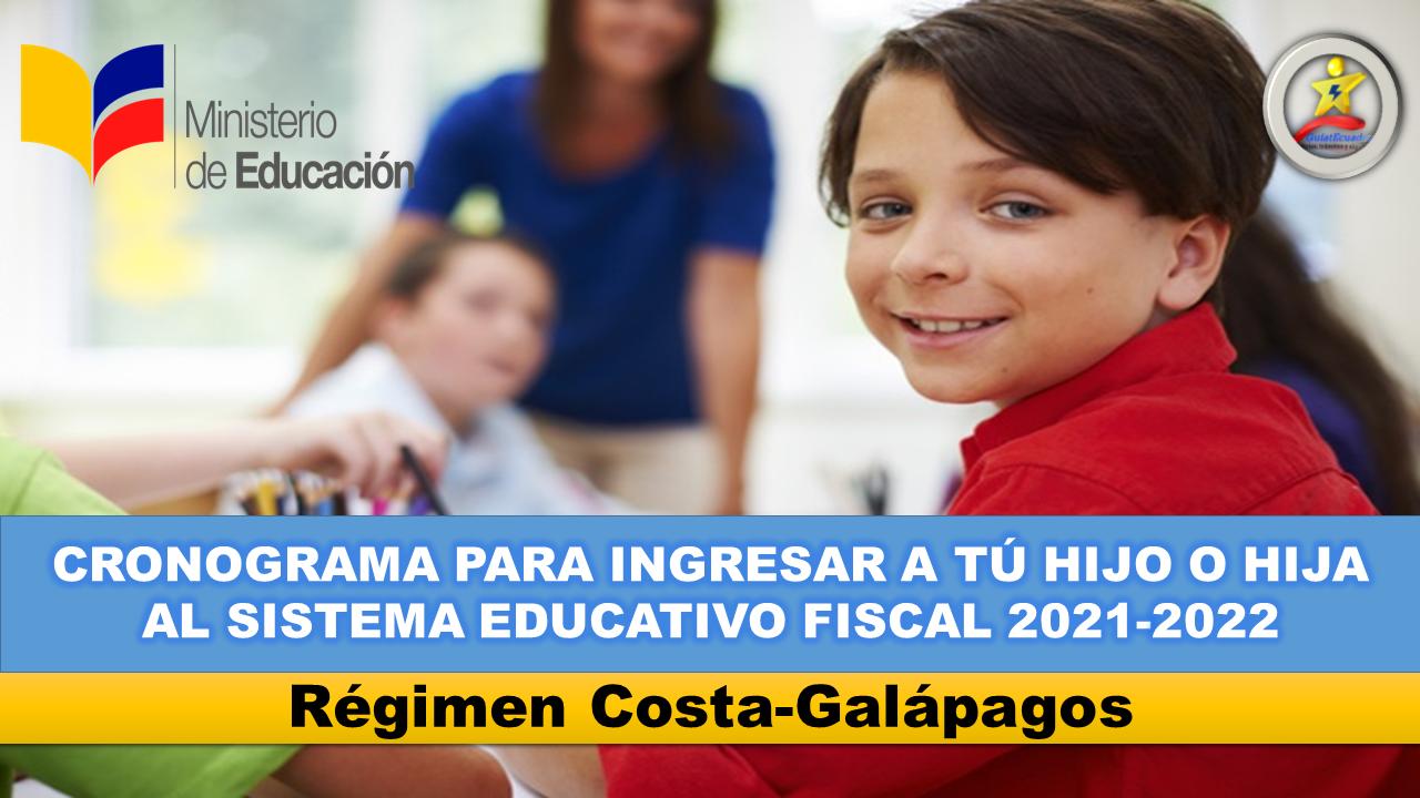 Fechas de Matrículas y Traslados para el Sistema Educativo Fiscal 2021-2022