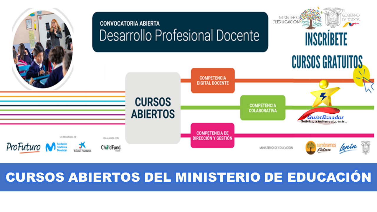 Cursos abiertos del Ministerio de Educación Programa Profuturo
