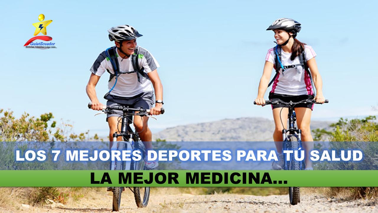 Estos son los 7 mejores deportes para tú salud La mejor medicina