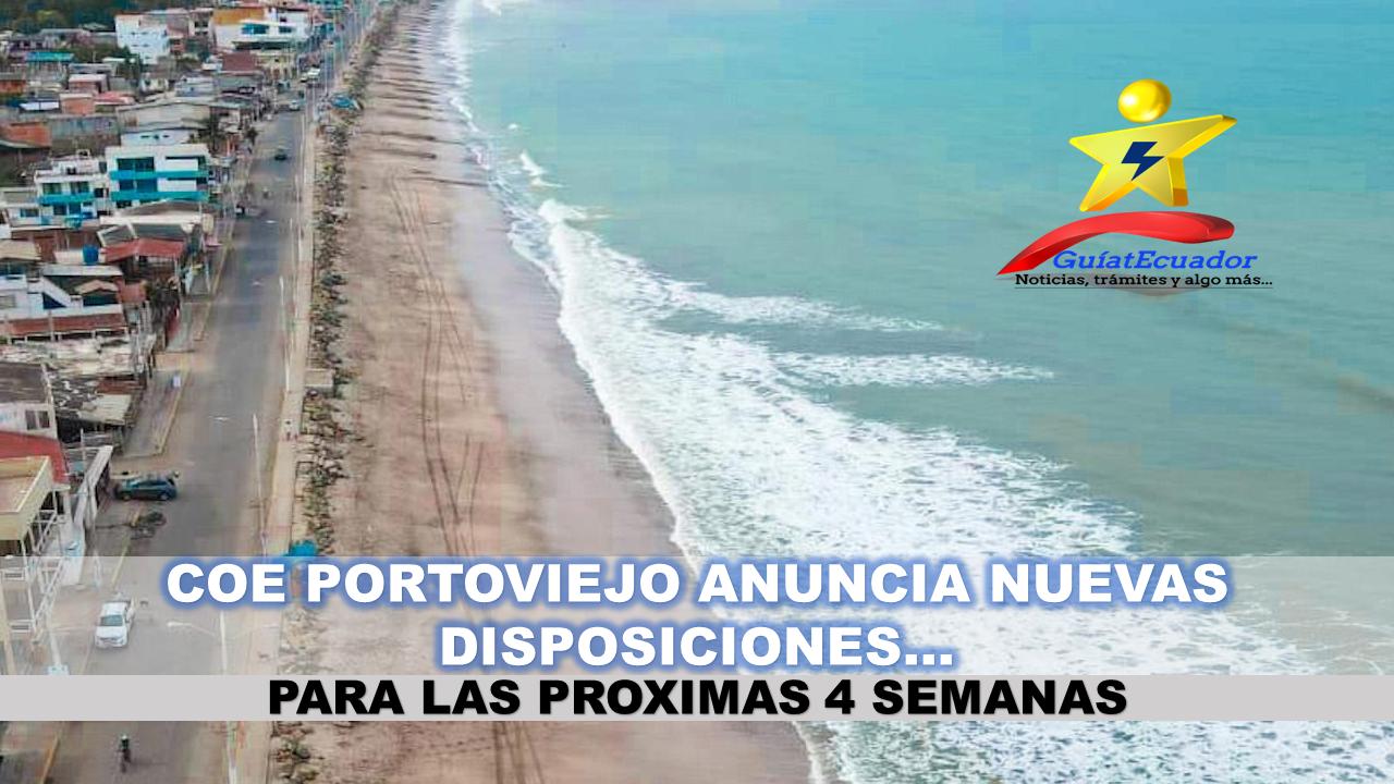 COE Cantonal Anuncia Nuevas Medidas para Portoviejo Disposiciones