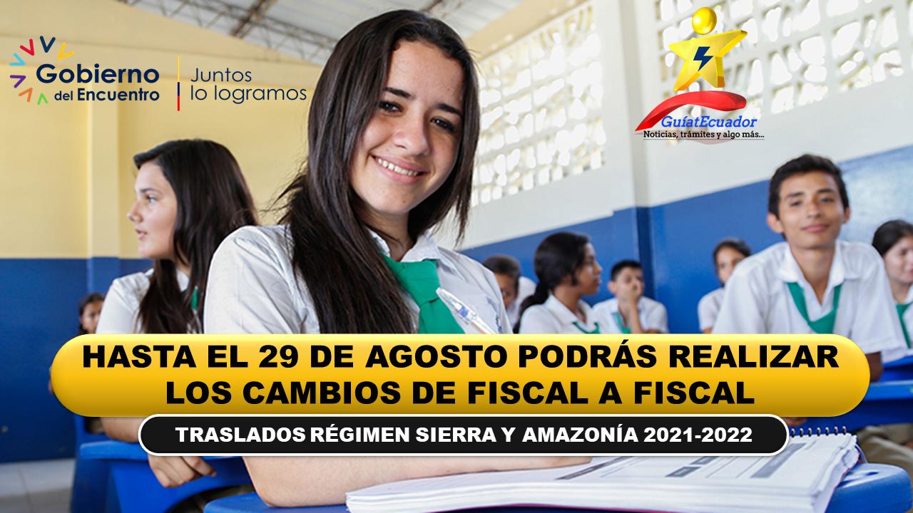 Hasta el 29 de agosto podrás realizar los cambios de fiscal a fiscal Régimen Sierra y Amazonía 2021-2022